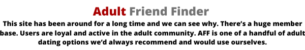 ädultfriendfinder has one of the biggest online dating community
