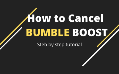 How to cancel Bumble Boost -> Step by step tutorial