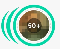 Green circle around bumble match queue 50+ matches