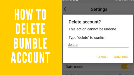 how to delete bumble account permanently