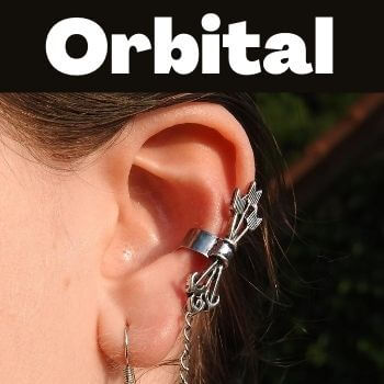 ear cartilage piercing called orbital
