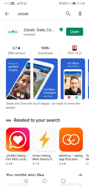 how to get zoosk free trial step number one, open the app