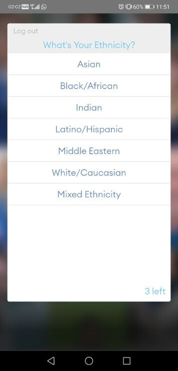 how to get zoosk free trial step 7: choose your ethnicity