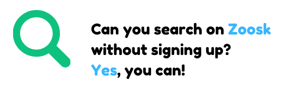 Can you search on Zoosk without signing up? Yes, you can!